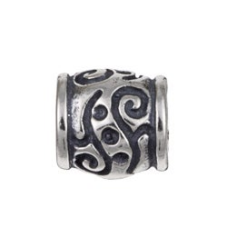 Sterling Essentials Sterling Silver Bali Barrel Bead