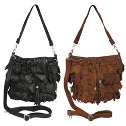 Amerileather 'Junior Julia' Recycled Leather Handbag