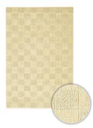 Hand-knotted Mandara Tan Checkerboard Jute Rug (2'6 x 7'6)