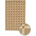 "Hand-Knotted Mandara Geometric Brown Checkerboard Jute Rug (2'6"" x 7'6"")"