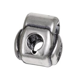 Sterling Essentials Sterling Silver Heart Padlock Bead