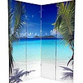 Canvas Double-sided 6-foot Ocean Room Divider (China)