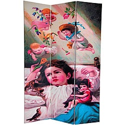 Double-sided 6-foot Magical Dreams Canvas Room Divider (China)