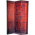 Canvas Double-sided 6-foot Doors Room Divider (China)