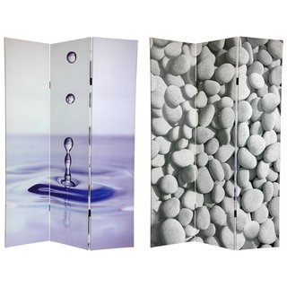 Canvas Double-sided 6-foot Water Zen Room Divider (China)