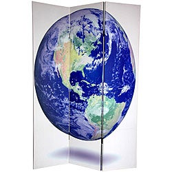 Double-sided 6-foot Earth Canvas Room Divider (China)