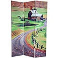 Canvas Double-sided 6-foot Rural Beauty Room Divider (China)