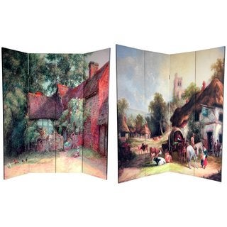 Canvas Double-sided 6-foot Farm Life Room Divider (China)