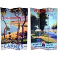 Canvas Double-sided 6-foot Cannes and Versailles Room Divider (China)