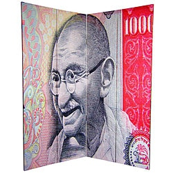 Canvas Double-sided 6-foot Gandhi Room Divider (China)