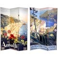 Canvas Double-sided 6-foot Amalfi and Riviera Room Divider (China)
