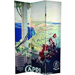 Canvas Double-sided 6-foot Capri and Verona Room Divider (China)