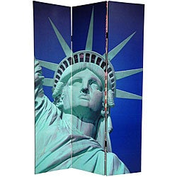 Double-sided 6-foot Liberty Canvas Room Divider (China)