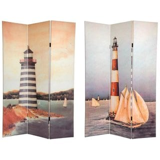 Canvas Double-sided 6-foot Lighthouses Room Divider (China)