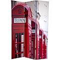 Canvas 6-foot Big Ben/ London Phone Booths Room Divider (China)