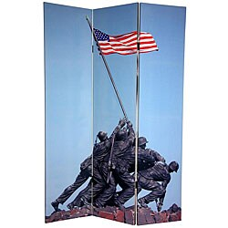 Double-sided 6-foot Lincoln/ Iwo Jima Memorial Room Divider (China)