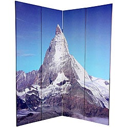 Canvas Double-sided 6-foot Matterhorn/ Everest Room Divider (China)
