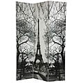 Canvas 6-foot Eiffel Tower/ Arc de Triomphe Room Divider (China)