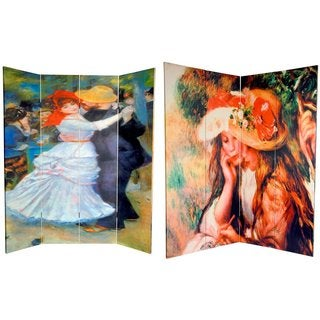 Double-sided 6-foot Dance at Bougival/ Two Girls Room Divider (China)