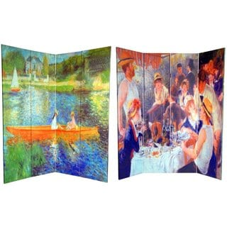Canvas 6-foot The Seine/ The Luncheon Room Divider (China)