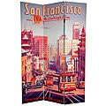 Canvas 6-foot San Francisco/ World's Fair Room Divider (China)