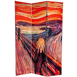Canvas 6-foot The Scream/ The Full Moon Room Divider (China)