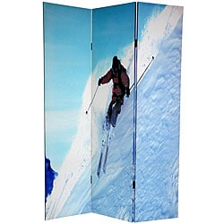Canvas Double-sided 6-foot Skiing Room Divider (China)