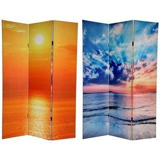 Canvas Double-sided 6-foot Sunset Room Divider (China)