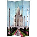 Double-sided 6-foot Taj Mahal Canvas Room Divider (China)