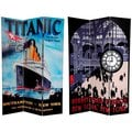 Canvas Double-sided 6-foot Titanic/ Penn Station Room Divider (China)