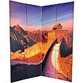 Double-sided 6-foot Great Wall of China/ Statues Room Divider (China)