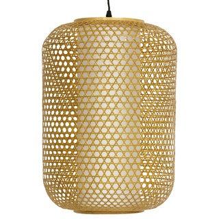 "Handmade 19"" Japanese Taka Bamboo Hanging Lantern"