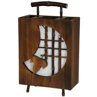 Contemporary-style 17-inch Crescent Decorative Lantern (China)