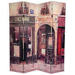 Canvas Double-sided French Cafe 6-foot Room Divider (China)