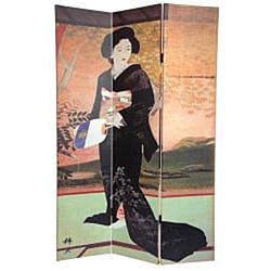 Canvas Double-sided Japanese Room Divider (China)