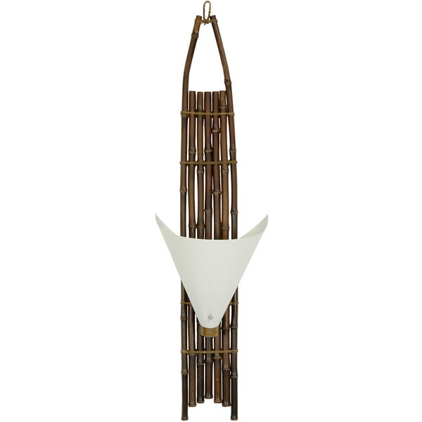 Decorative Wall Lamps China : Japanese-style 40-inch Dark Baku Bamboo Wall Sconce (China) - 12655868 - Overstock.com Shopping ...