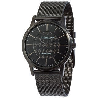 Stuhrling Original Unisex Newberry Ultra Slim Black Watch