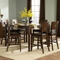 TRIBECCA HOME Watson Warm Brown 7-piece Counter Height Dining Set