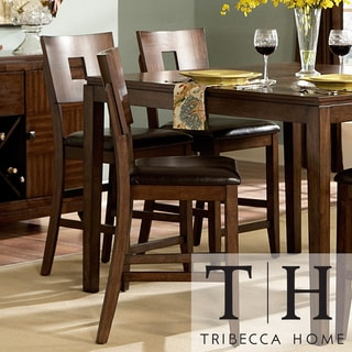 TRIBECCA HOME Watson 24-inch Counter Height Chair (Set of 2)