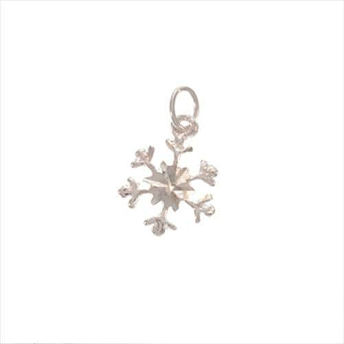 Beadaholique Silver Delicate Snowflake Christmas Winter Charms (Pack of 2)