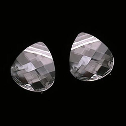 Beadaholique Crystal 6012 10x11mm Flat Briolette Pendant Beads (Pack of 4)