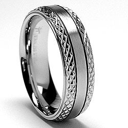 Oliveti Stainless Steel Crystal-cut Band (7 mm)