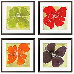 Luna Gunn 'Color Study II, III, V, VI' Giclee Framed Art (Set of 4)