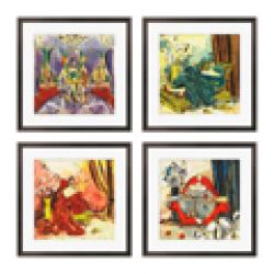 Gallery Direct Olivia Maxweller 'Ladies of Leisure Series' Giclee Art (Set of 4)