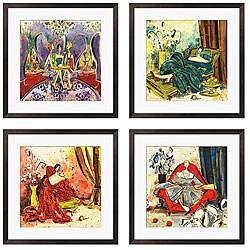 Olivia Maxweller 'Ladies of Leisure Series' Giclee Art (Set of 4)