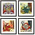 Olivia Maxweller 'Ladies of Leisure Series' Giclee Art (Set of 4)