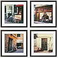 Ernesto Rodriguez 'Le Bicyclette Series' Giclee Framed Art (Set of 4)