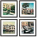 Erneseto Rodriguez 'Venezia Series' Giclee Framed Artwork (Set of 4)
