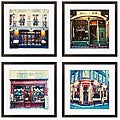 Ernesto Rodriguez 'Bistro Series' Giclee Framed Artwork (Set of 4)