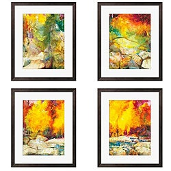 Sylvia Angeli 'Mountain High I-IV' Giclee Framed Prints (Set of 4)